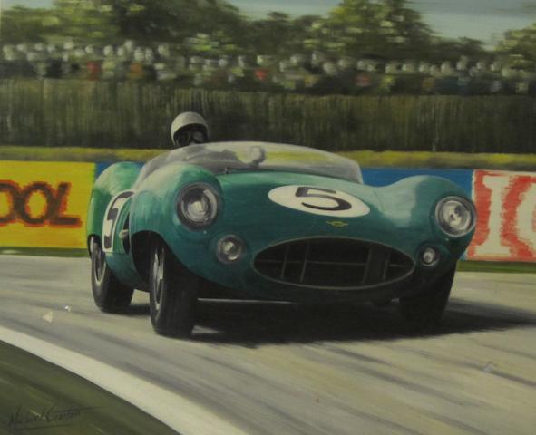 Michael Cowtan; 'Roy Salvadori, Aston-Martin 1959, Le Mans',
