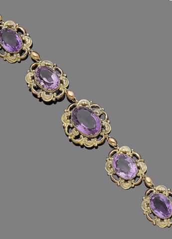 A 19th century amethyst rivière necklace