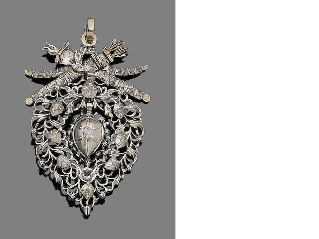 A mid 19th century diamond-set pendant