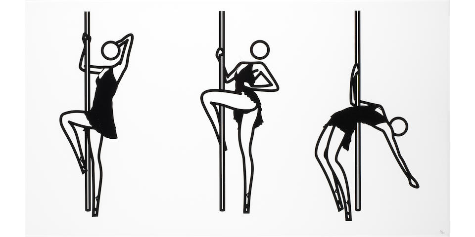 Julian Opie (British, born 1958) This is Shanhoza. 1-5 The complete set of five screenprints, 2006, on Somerset satin, each signed and numbered 5/40 in pencil, printed by Advanced Graphics, London, published by Alan Cristea Gallery, London, each 570 x 1360mm (22 1/2 x 53 1/2in)(SH)