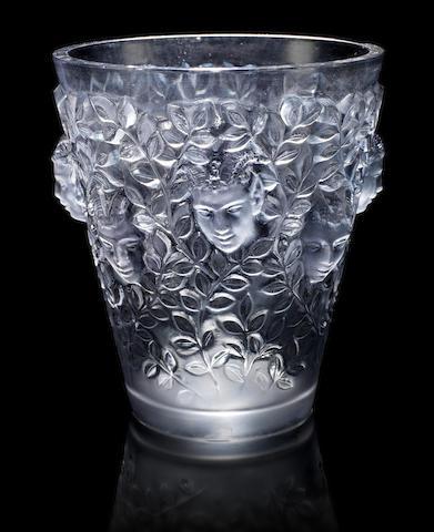 René Lalique 'Silènes' a Vase, design 1938