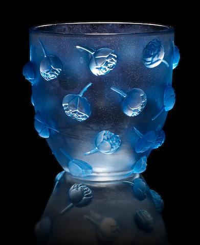 René Lalique 'Pivoines' a Vase, design 1937