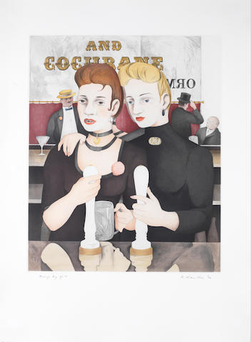 Richard Hamilton (British, 1922-2011) Bronze by Gold Aquatint with engraving, 1985-87, printed in colours, on BFK Rives, signed, titled and numbered in /120 pencil, 526 x 429mm (20 3/4 x 16 7/8in) (PL)