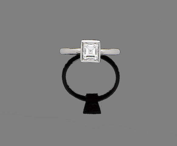 A diamond single-stone ring, by Elsa Peretti for Tiffany & Co.