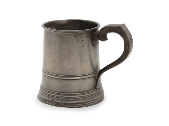 A pre-Imperial pint straight-sided mug, circa 1780