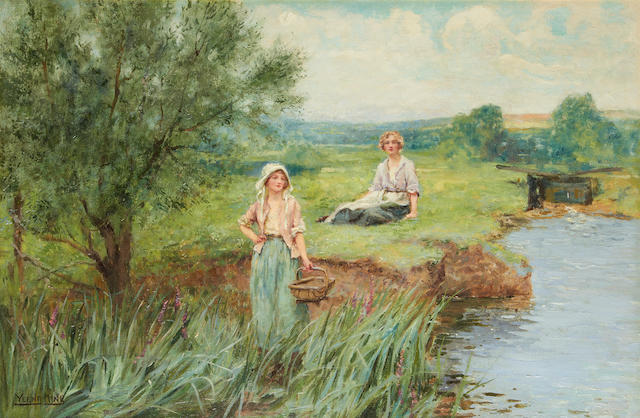 Henry John Yeend King (British, 1855-1924) The rush gatherers