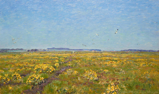 Viggo Christien Frederik Vilhelm Pedersen (Danish, 1854-1926) Field with yellow flowers