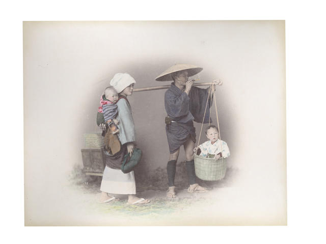 JAPAN An album of 54 topographical images and portraits by Adolfo Farsari, [c.1890]