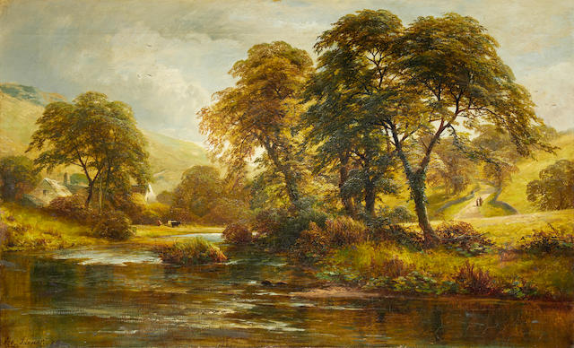 George Turner - landscape, oil Monsal Dale Derbyshire