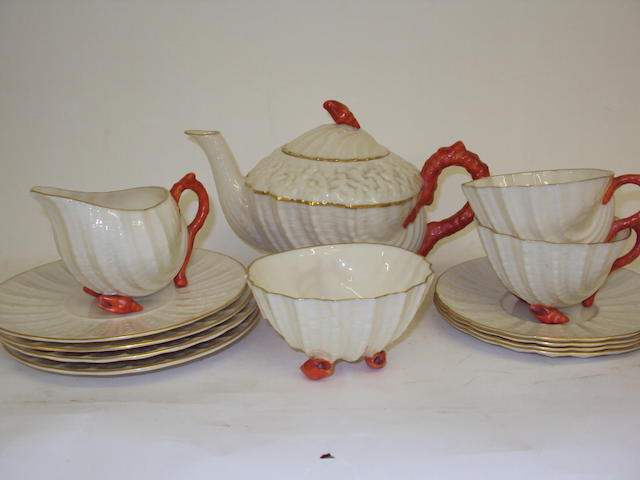 A Belleek tea service
