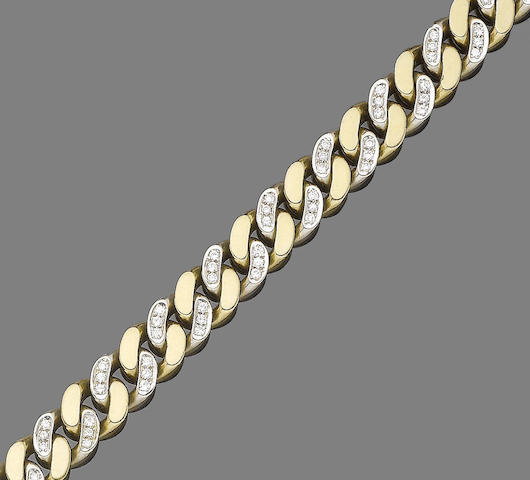 A diamond-set fancy-link chain