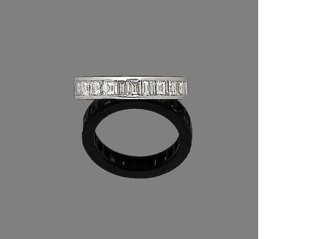 A diamond eternity ring, by Cartier