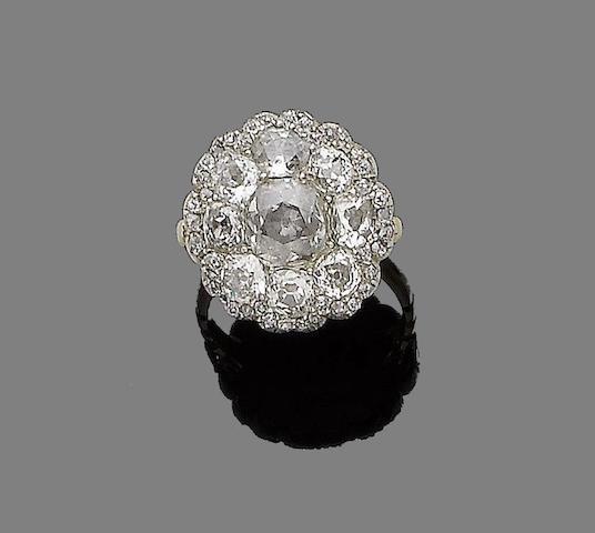 A 19th century diamond cluster ring