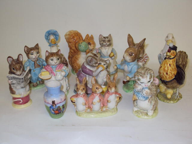 A collection of Beswick Beatrix Potter figurines