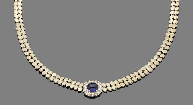 A sapphire and diamond necklace, by Van Cleef & Arpels
