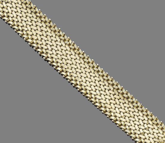 A gold bracelet, by Ben Rosenfeld,