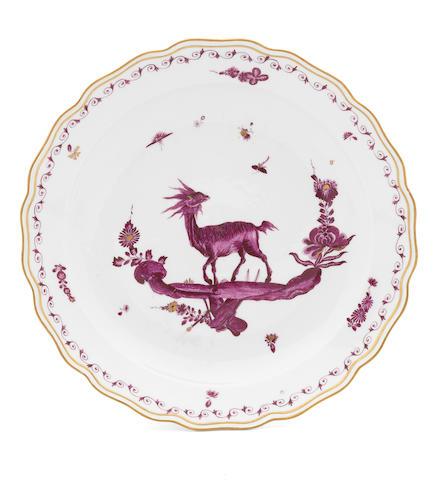 A Meissen dish, circa 1740-45