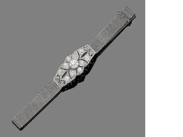 A belle époque diamond-set bracelet,