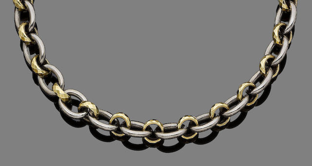A fancy-link necklace, by Pomellato