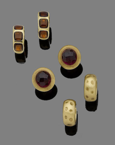 Three pairs of earrings, two by Pomellato (3)