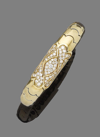 A diamond-set bangle, by Parodi