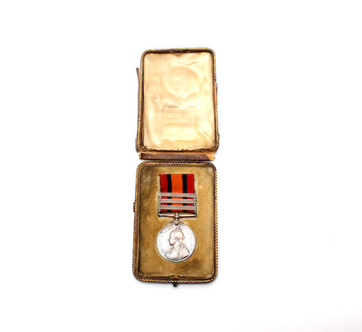 The Queen's South Africa Medal 1899-1902 to Lieutenant E J Stourton, 2nd Imperial Yeomanry