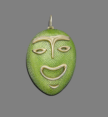 An enamel pendant, by Tiffany & Co.