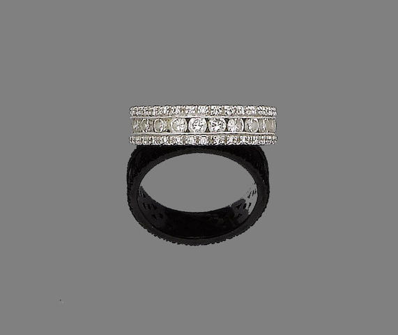 A diamond eternity ring, by Mappin & Webb,
