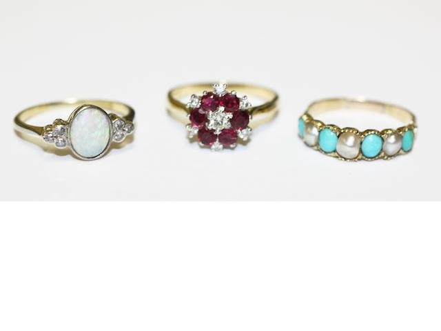 Three gem set rings