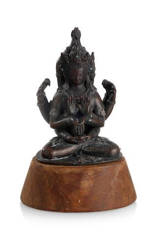 A Sino-Tibetan bronze Avalokiteshvara 18th century
