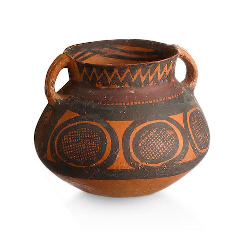 A Neolithic painted pottery jar Majiayao Culture, Machang type, 3rd Millennium BC