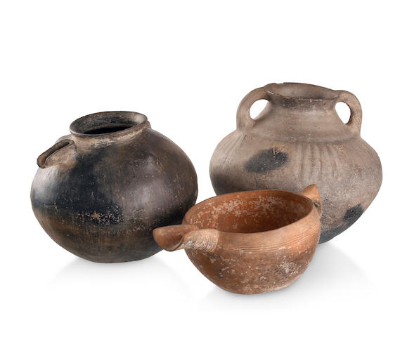 Three Northern Iranian pottery vessels 3