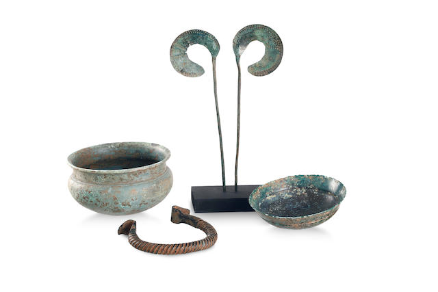 A group of bronze artefacts Western Iran, 4