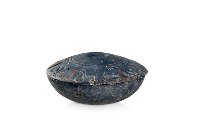 A chlorite bowl with lid Western Asiatic,