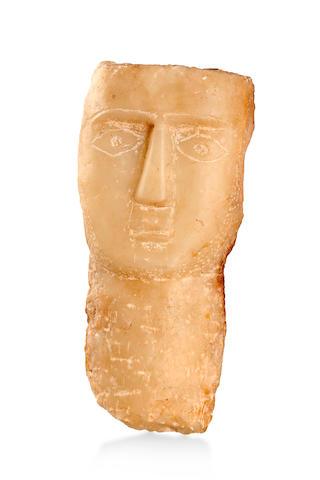 A Calcite Alabaster Sabaean Stela Southern Arabia,