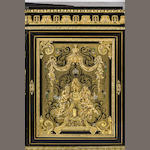 A Louis Philippe period ebonised and ormolu mounted Meuble D'AppuiFrench, circa 1860