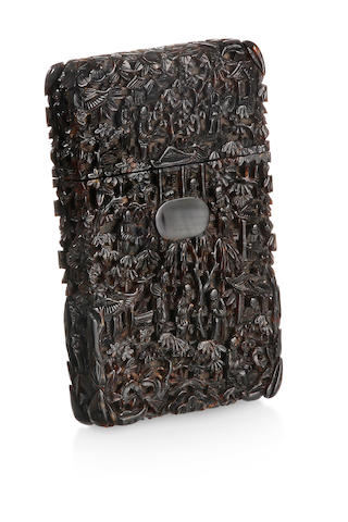 A Chinese tortoiseshell card case Late 18th century