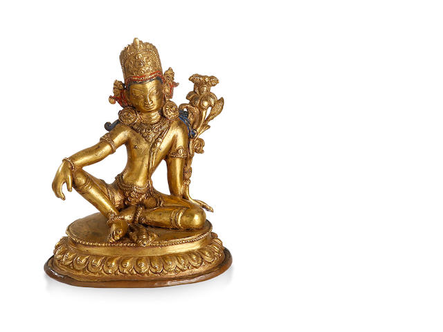 A Sino-Nepalese figure of Indra  Early 20th century