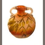 A Gallé glass vase Circa 1895
