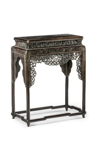A Chinese wooden stand Late Qing