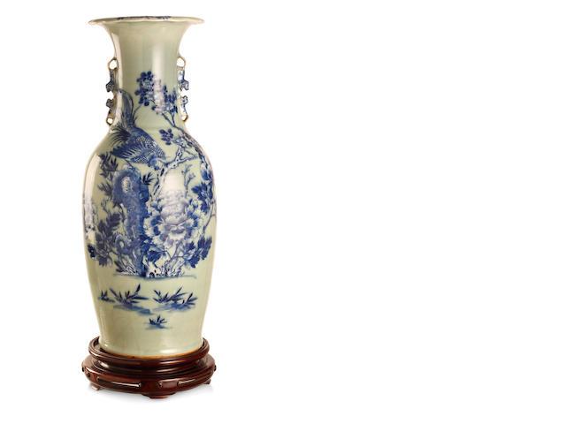A large enamelled porcelain vase  circa 1900