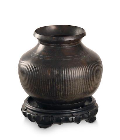 A Japanese bronze vase  Meiji or Taisho