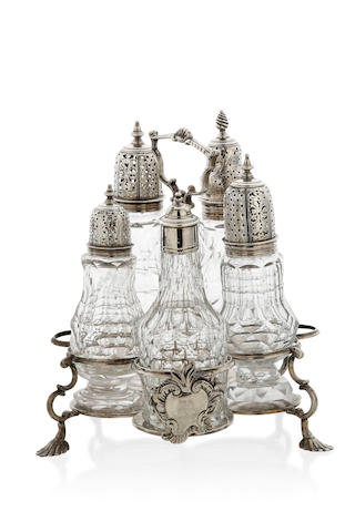 A George III    silver  cruet set Samuel Wood London 1774
