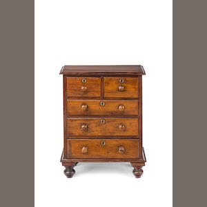 A 19th century Australian  cedar miniature apprentice chest of drawers