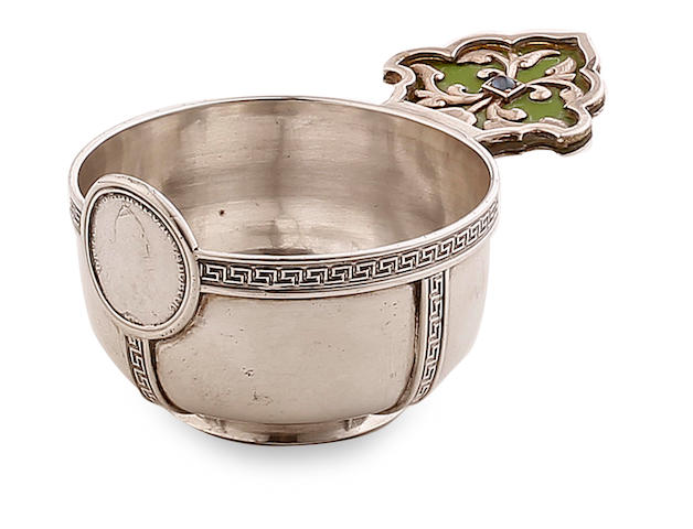 A late 19th century Russian  silver  Charka ПиΚ kokoshnik 84