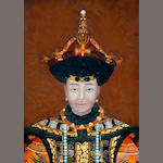 A reverse mirror painting of portrait of a Qing Dynasty Imperial consort Republic