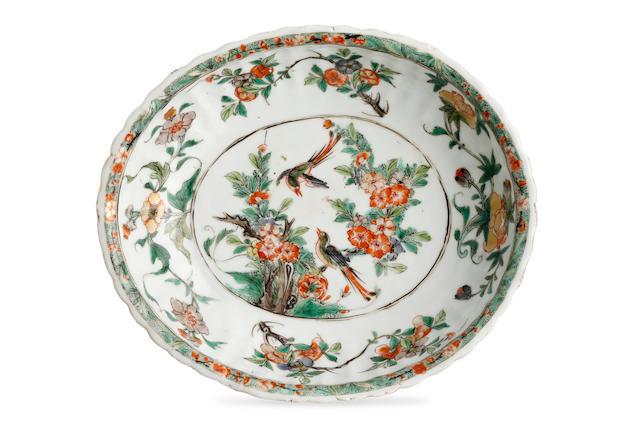 A Chinese famille verte dish Kangxi