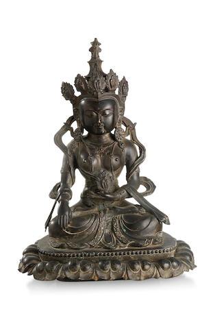 A bronze Bodhisattva  Republic