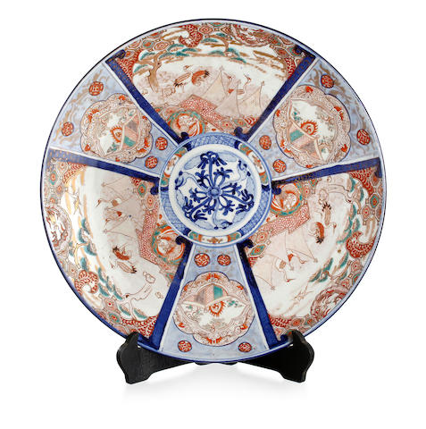 A Japanese Imari large charger Meiji or Taisho