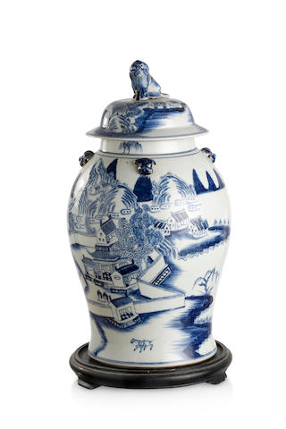 A Chinese blue-and-white general jar 19th century